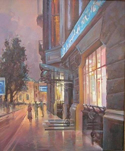 Follow Me Painting - Ukraine. Kiev. City. Ukrainian Streets. Kiev In The Evening by Roman Semesiuk