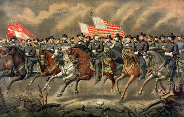 Wall Art - Photograph - Ulysses S Grant And His Generals On Horseback by International  Images