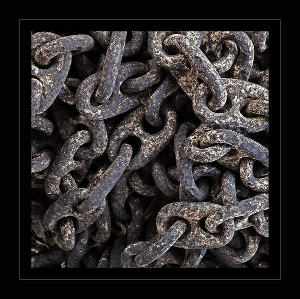 Chain Link Photograph - Unchained Abstract by John Stephens