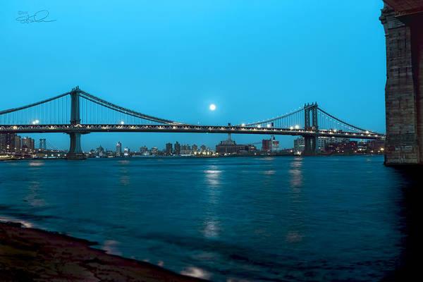 Photograph - Under A Blue Moon by S Paul Sahm