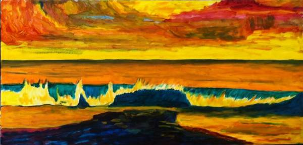 Painting - Under Painting Wave 3 by Jeremy McKay