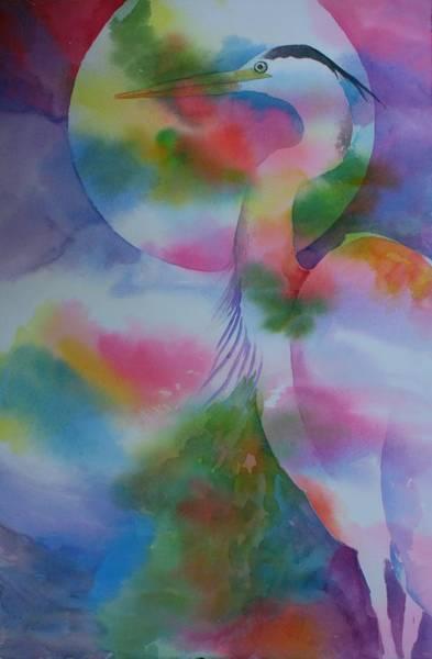 Painting - Under The Heron Moon by Tara Moorman