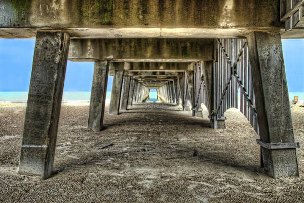 Wall Art - Photograph - Under The Pier On Tybee Island by Tammy Wetzel