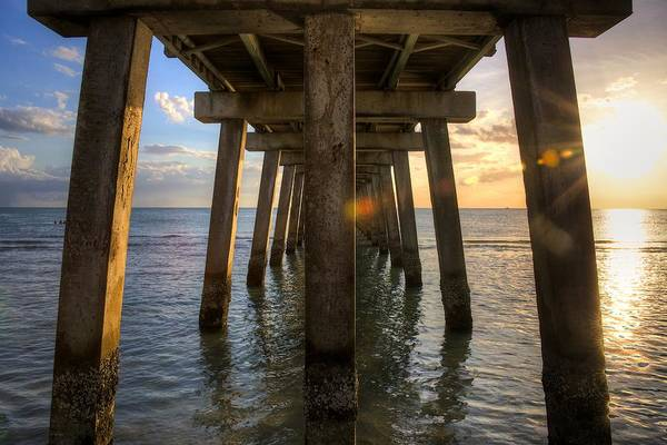 Wall Art - Photograph - Under The Pier by William Wetmore