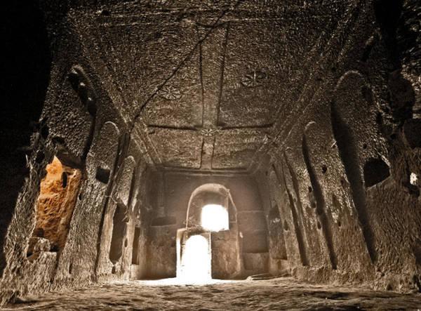 Photograph - Guzelyurt, Turkey - Underground Church by Mark Forte
