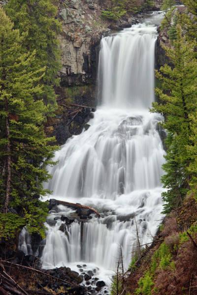 Photograph - Undine Falls Yellowstone National Park by D Robert Franz