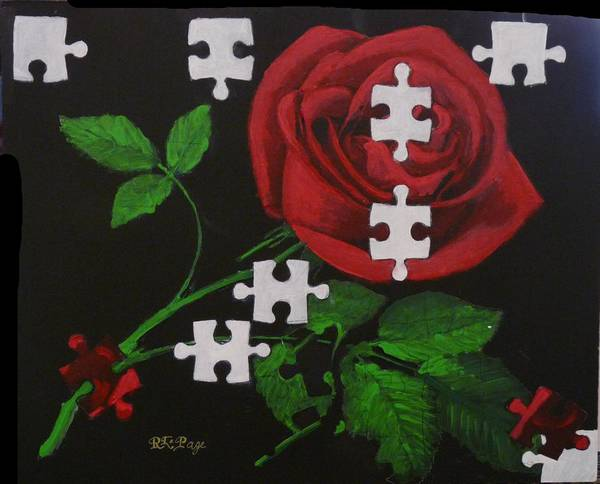 Painting - Unfinished Rose by Richard Le Page