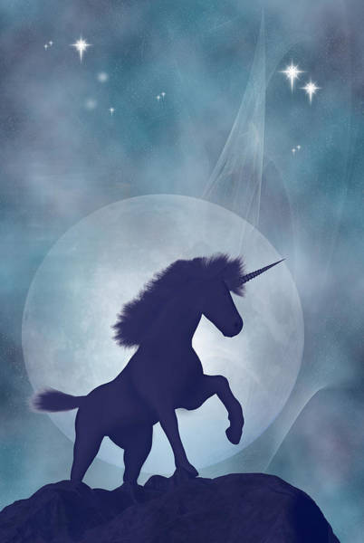 Unicorn Digital Art - Unicorn by Carol and Mike Werner