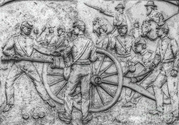 Union Artillery Civil War Drawing Art Print