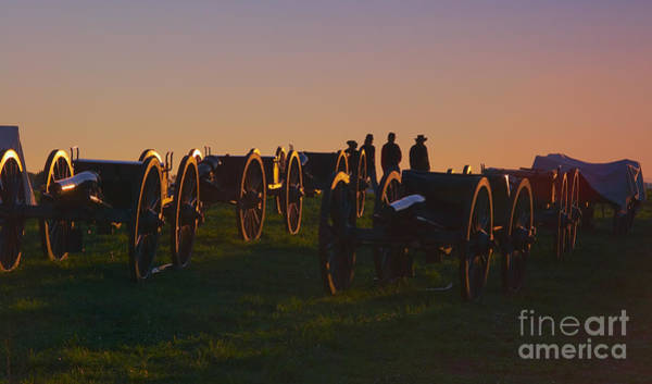 Union Cannons At Sunset Art Print