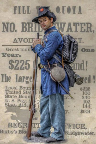 Union Civil War Soldier Black Hats Art Print