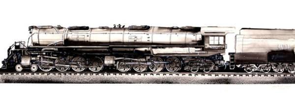 Painting - Union Pacific 4-8-8-4 Steam Engine Big Boy 4005 by J Vincent Scarpace