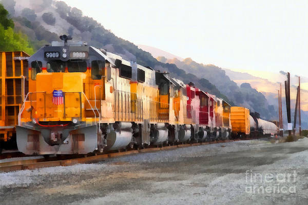 Photograph - Union Pacific Locomotives Along The Hills Of Martinez California . 7d10563 by Wingsdomain Art and Photography