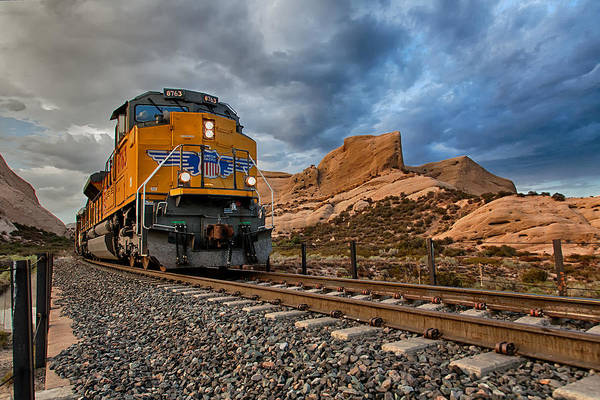 Photograph - Union Pacific Thru Mormon Rocks by Peter Tellone