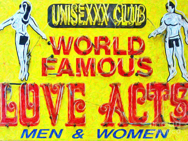 Unisex Photograph - Unisexxx Club by Wingsdomain Art and Photography