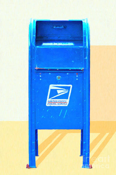 Photograph - United States Postal Service Mail Box . Snail Mail by Wingsdomain Art and Photography
