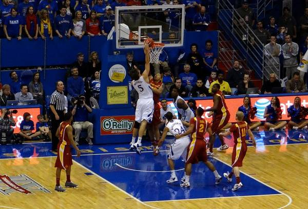 Photograph - University Of Kansas Jeff Withey by Keith Stokes