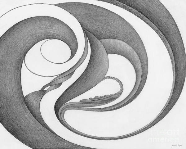 Organic Form Drawing - Unnamed Sketch 02 by Joanna Pregon