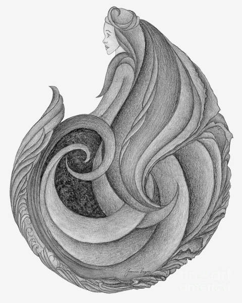 Organic Form Drawing - Unnamed Sketch 06 by Joanna Pregon