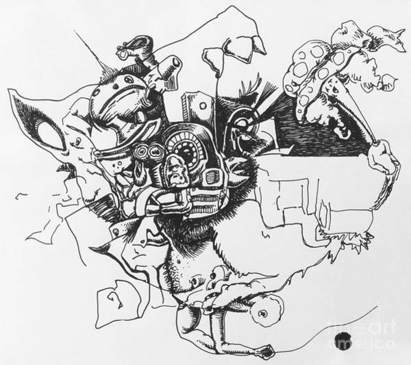 Spontaneous Drawing - Untitled 9 by Mack Galixtar