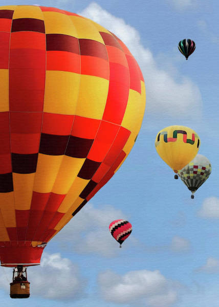 Balloon Festival Digital Art - Up And Away by Sharon Foster