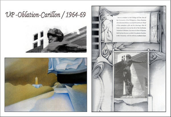 Painting - Up Oblation-carillon 1964-69 by Glenn Bautista