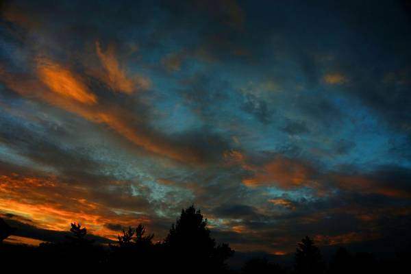 Photograph - Upper Arlington Labor Day 2012 Sunset by Beth Akerman