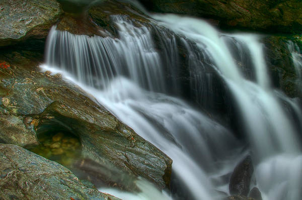 Smugglers Notch Photograph - Upper Bingham Falls by Mike Horvath