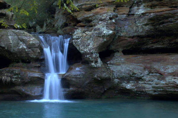 Hocking Hills Photograph - Upper Falls At Old Mans Cave by Monica Lewis