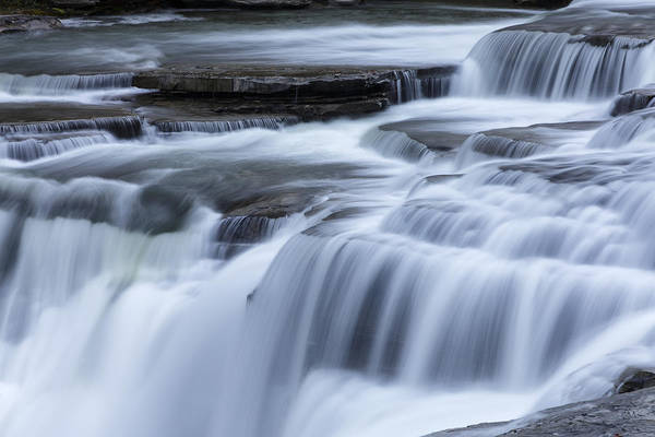 Letchworth Photograph - Upper Falls Detail by Rick Berk