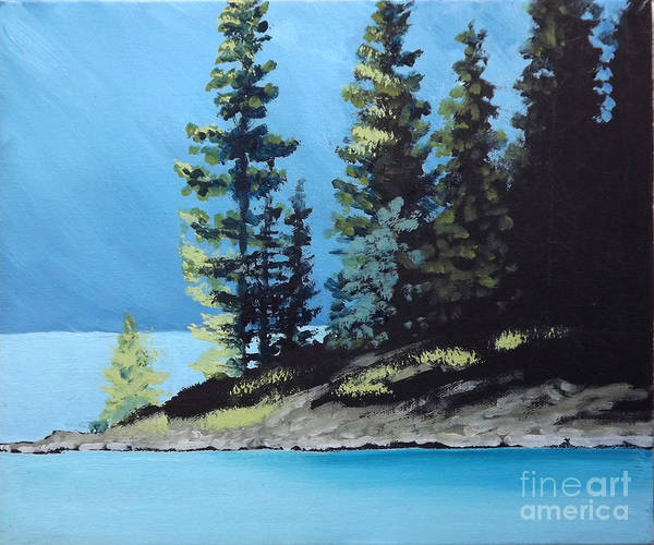 Painting - Upper Kananaskis Lake by Diane Ellingham