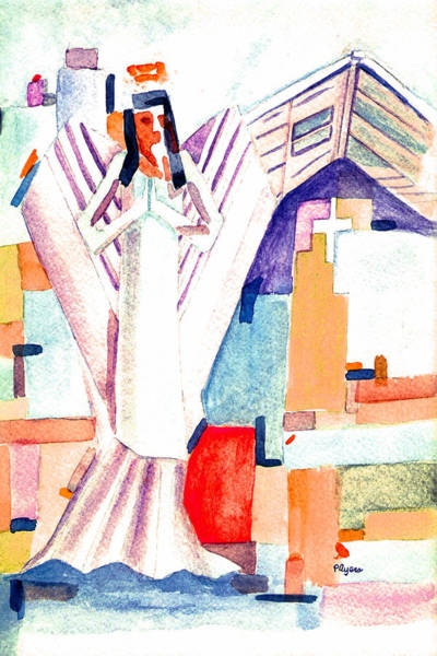 Wall Art - Painting - Urban Angel Of Light by Paula Ayers