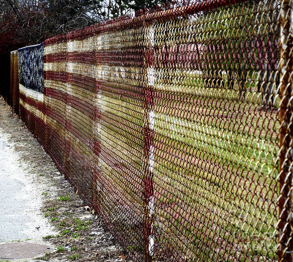 Rusty Chain Wall Art - Photograph - Urban Canvas by Luke Moore