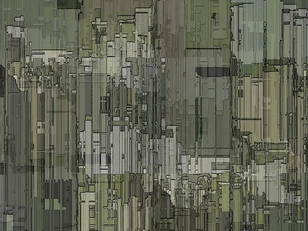 Highrise Digital Art - Urban Core 2 by Tim Allen