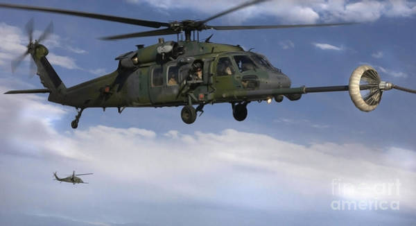Photograph - U.s. Air Force Hh-60 Pave Hawks Conduct by Stocktrek Images