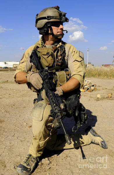 Photograph - U.s. Air Force Pararescueman Conducts by Stocktrek Images