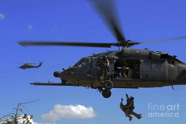 Photograph - U.s. Air Force Pararescuemen by Stocktrek Images