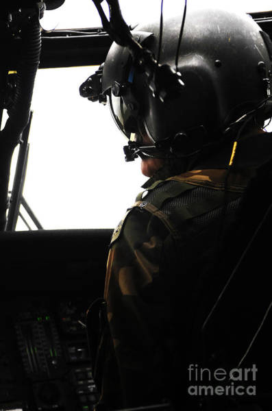 Utility Aircraft Photograph - U.s. Army Officer Speaks To A Pilot by Stocktrek Images