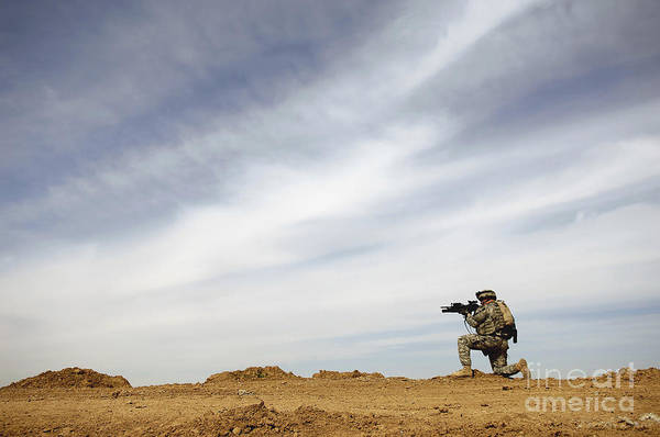 Photograph - U.s. Army Sergeant Provides Security by Stocktrek Images