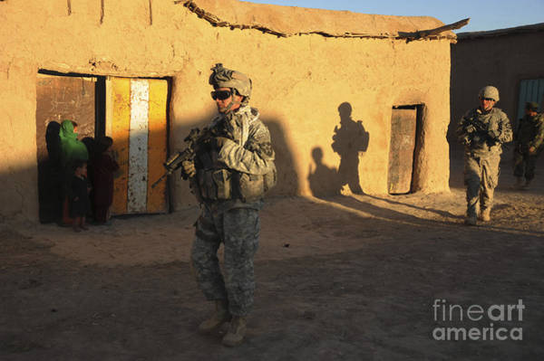 Photograph - U.s. Army Soldiers Conduct A Dismounted by Stocktrek Images