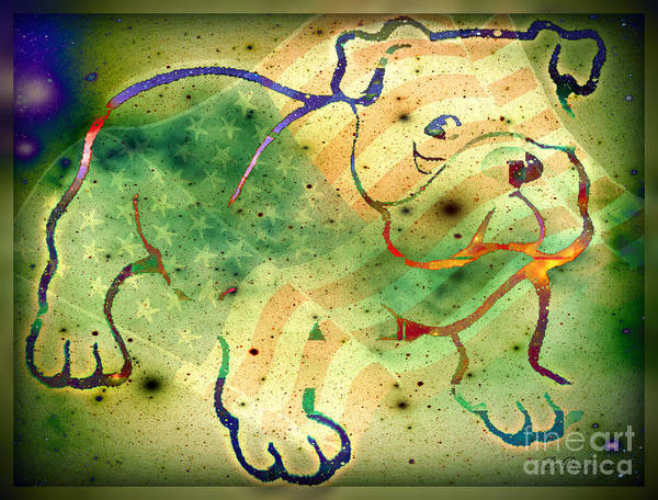Digital Art - Us Bull by Donna Bentley