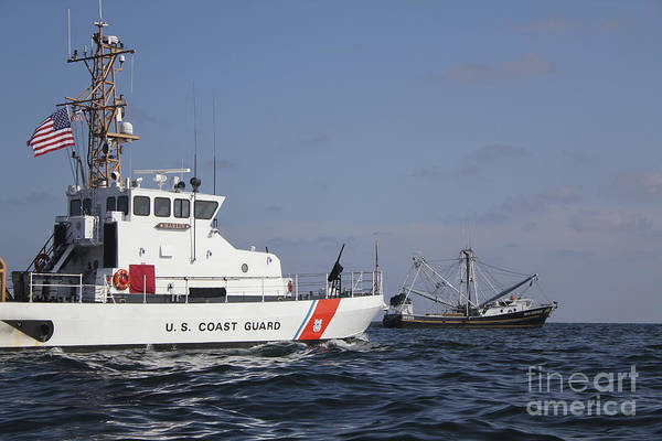 Photograph - U.s. Coast Guard Cutter Marlin Patrols by Stocktrek Images