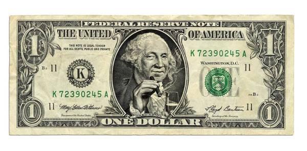 Parody Photograph - Us Dollar Bill, George Washington Parody by Smetek