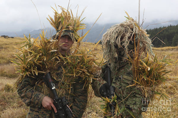 Photograph - U.s. Marine And Japanese Sniper Await by Stocktrek Images