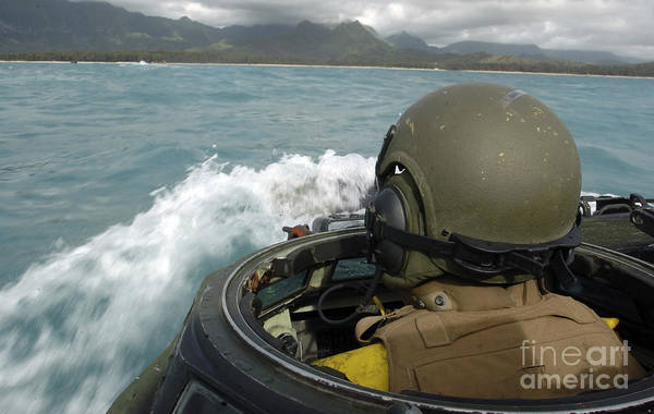 Amphibious Assault Ship Wall Art - Photograph - U.s. Marine Driving An Amphibious by Stocktrek Images