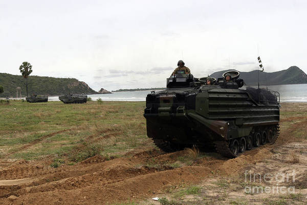 Aav Photograph - U.s. Marines And Royal Thai Marines by Stocktrek Images