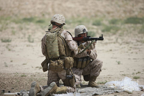 Grenade Launcher Wall Art - Photograph - U.s. Marines Prepare A Fragmentation by Terry Moore
