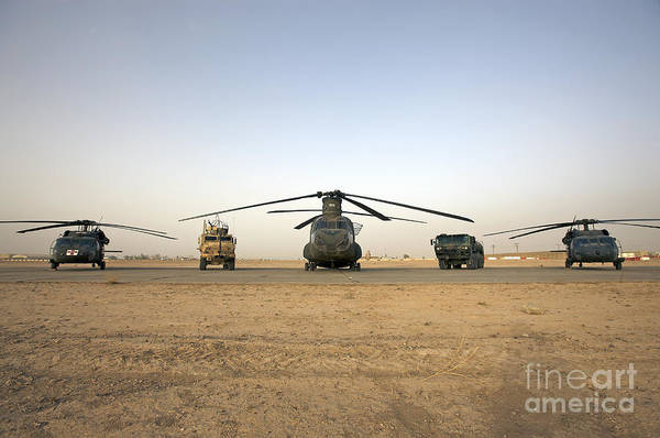Taxiway Wall Art - Photograph - U.s. Military Vehicles And Aircraft by Terry Moore