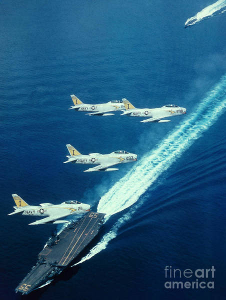Department Of Defense Photograph - Us Navy Fj-2 Jets by Science Source