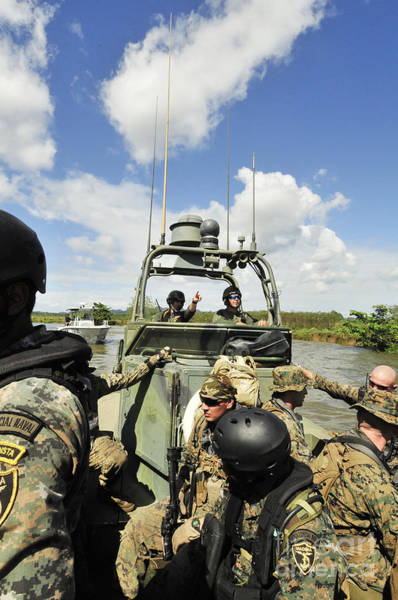 Special Operations Forces Photograph - U.s. Navy Riverine Squadron by Stocktrek Images